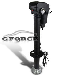 HEAVY DUTY BLACK ELECTIRC POWER 3500LBS TONGUE JACK KIT 3 BOLT RV