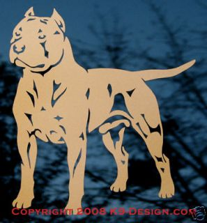 AMERICAN STAFFORDSHIRE / PIT BULL TERRIER DOG DECAL STICKER  By K9
