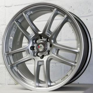 2007 2011 JOHN COOPER WORKS KEI RACING YARI SILVER ALLOY WHEELS 4x100