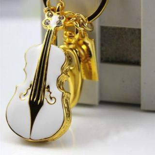 32GB Diamond crystal violin USB Flash Memory Pen Drive Stick EG94