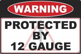 12 gauge Shotgun Gun warning decal sticker