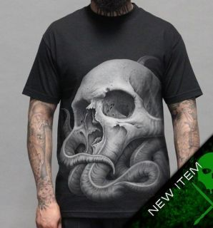 Sullen Tyrrell T Shirt Black clothing mens hip hop tattoo skull