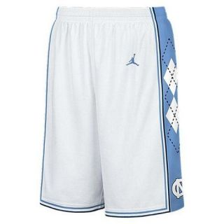 Nike Jordan North Carolina Tar Heels Mens White Basketball Shorts UK