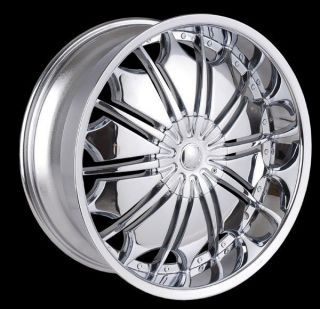 26 inch T706 Chrome wheels Lincoln Navigator MARK LT