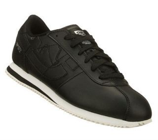 Marc Ecko VOSTIK Mens Black Leather Sporty Classic Athletic Sneaker