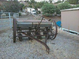 Antique Farm Equipment Horse Drawn Seeder ?