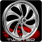 CHROME WANARYD TWISTED FRONT REAR WHEELS & TIRES HARLEY FLH FLHR FLHX