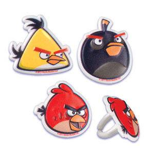 ANGRY BIRDS CupCake Topper Party Favor Supplies Birthday Cake Animal
