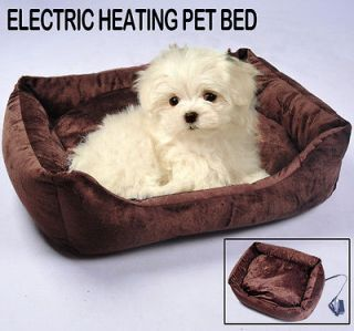 Electric Dog Cat Heat Pet Bed Pad Warmer House Litter Animal Coffee