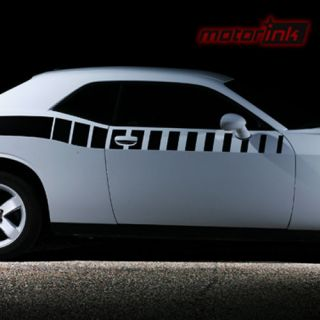 Dodge Challenger Side Stripe decal Strobe stripes r/t hemi 2012 2013