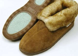 Men Sheepskin Shearling Bootie Shoe Slipper Moccasins