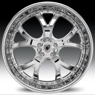 20 inch AF143 AF 143 Chrome Multi 2 Piece RIMS Wheels & TIRES Package