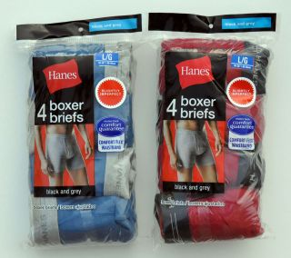 Pieces HANES Mens Boxer Briefs Underwear Cotton Comfort Flex