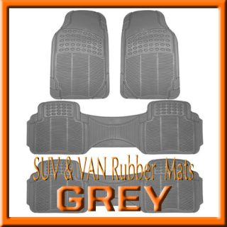 TOYOTA SIENNA ALL WEATHER SEMI CUSTOM GRAY RUBBER FLOOR MATS