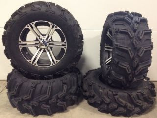 ITP SS212 14 Wheels Machined 27 ITP Mud Lite XTR Tires Kawasaki