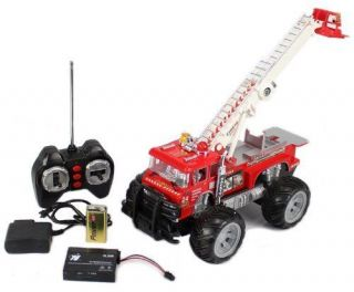 Remote Control RC Fire Truck w/ Lights, Music, Sirens, Rechargeable