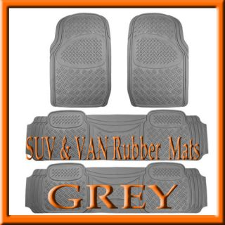 PCS TOYOTA SIENNA HEAVY DUTY GRAY RUBBER FLOOR MATS / FULL