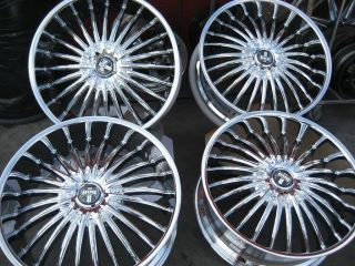 24 DUB SUAVE CHROME WHEELS RIMS AND TIRES PACKAGE GIANNA LEXANI