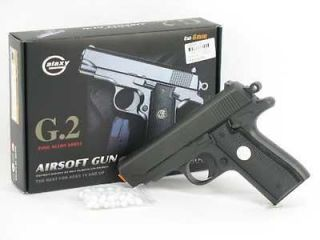 New 6.5 FULL METAL G2 Airsoft Pistol Gun w BB New 200f