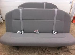 FORD ECONOLINE VAN E 250 350 450 CLOTH XLT BENCH SEAT 4