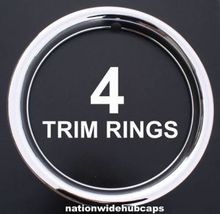 SET OF 4 13 CHROME WHEEL TRIM RINGS BEAUTY RIM RING GLAMOUR BANDS