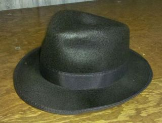 Adult Gangster Hat Al Capone BROWN Fedora Blues Brothers Costume