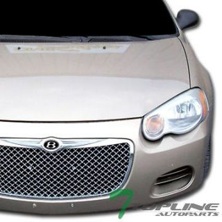 CHROME LUXURY MESH FRONT HOOD BUMPER GRILL GRILLE 2004 2006 CHRYSLER