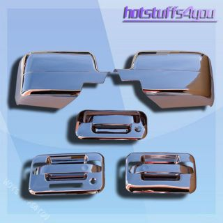 Ford F150 F 150 Chrome Rear Tailgate 2 Door Handle Covers Mirror Caps
