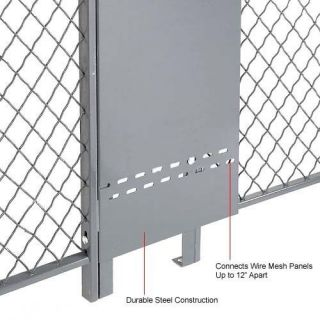 Wire Mesh Partition   Adjustable Gap Filler Panel for 10 ft Wire Mesh