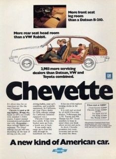 1976 Chevrolet Chevy Chevette   Interior   Classic Vintage