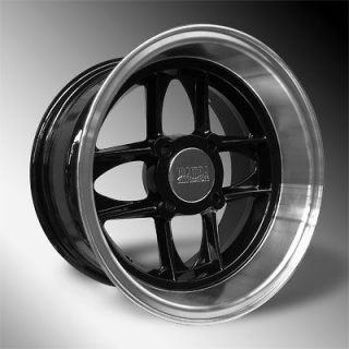 Austin Mini /Cooper 4 New Black/Polished 13x7 Mamba Deep Dish Wheels