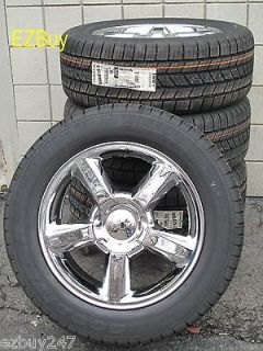 20 SUBURBAN TAHOE FACTORY STYLE CHROME WHEELS GOODYEAR TIRES 5308 NEW