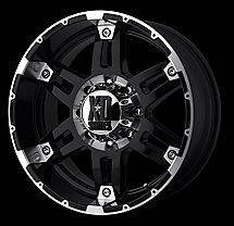 18 inch Black Wheels Rims Chevy Silverado Truck 2500 3500 HD GMC Dodge