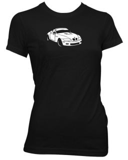 BMW Z3 CONVERTIBLE LADIES RETRO CAR T SHIRT GIFT CA31