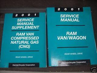 2001 DODGE RAM VAN WAGON Service Repair Shop Manual Set INC SUPPLEMENT