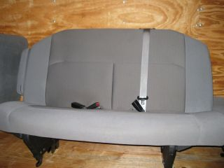 08 12 Ford Econoline Van 2nd Row 3 Passenger XLT Gray Cloth Bench Seat
