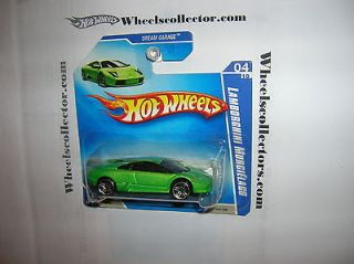 Lamborghini Murcielago GREEN on Short card * 2009 Hot Wheels * Dream