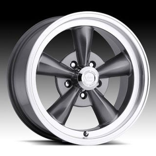 15 INCH 5X4.5 GUNMETAL VISION LEGEND 5 WHEELS RIMS 5 LUG CHARGER