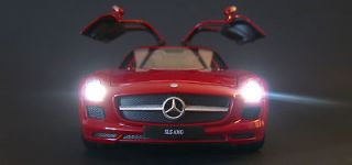 24 Mercedes Benz SLS AMG custom lights LED die cast police diorama