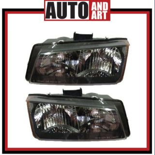New Pair Set Headlight Headlamp Lens Housing SAE DOT 03 04 Chevy