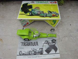 Vintage 1968 Drag Racing 1/24 Trantula Monogram Kit Model Car Hot Rod