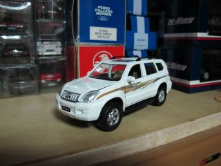 Toyota Land Cruiser Prado white pullback toy car 1/32 free ship