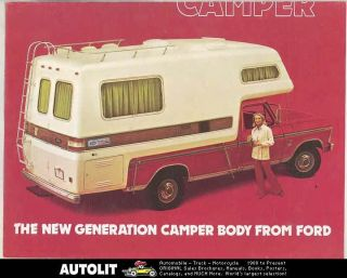 1973 1974 Ford American Road Pickup Truck Camper RV Brochure