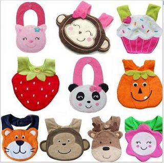Cute cartoon 3d animal soft Saliva towel ,More than 18style kids baby