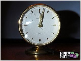 Antique Junghans 7 Jewels Alarm Clock Made in Germany German Working