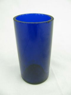 Antique Small Cobalt Blue Liquor Shot Glass Glasses Jar