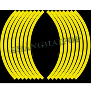 Motorcycle Wheel Sticker Rim Reflective Tape Stripe Motorbike Bike