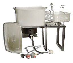 Outdoor Deep Fryer, Boiler, & Steamer   54,000 BTU   Multi Purpose