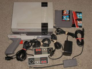 NINTENDO NES SYSTEM W/MARIO/DUCK HUNT & NEW 72 PIN, FREE US