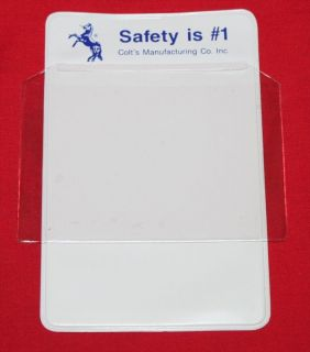 COLT Firearms Factory Safety is #1 Pocket Protector